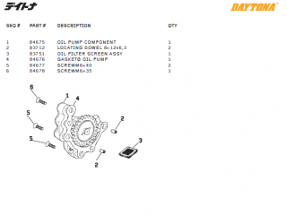 Daytona Oil pump parts DT150, T-Rex