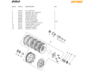 Daytona Clutch parts DT150, T-Rex