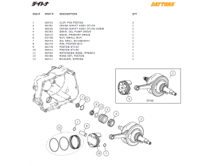 Piston & cranck shaft parts Daytona ANIMA®150/190 (4 VALVES)