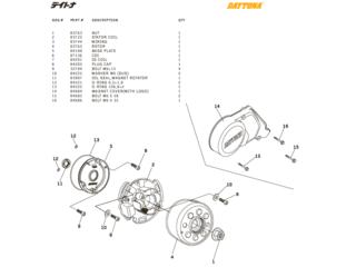 Daytona Tändnings delar DT150, T-Rex
